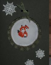 cross-stitch ornament, Christmas ornament, Christmas card